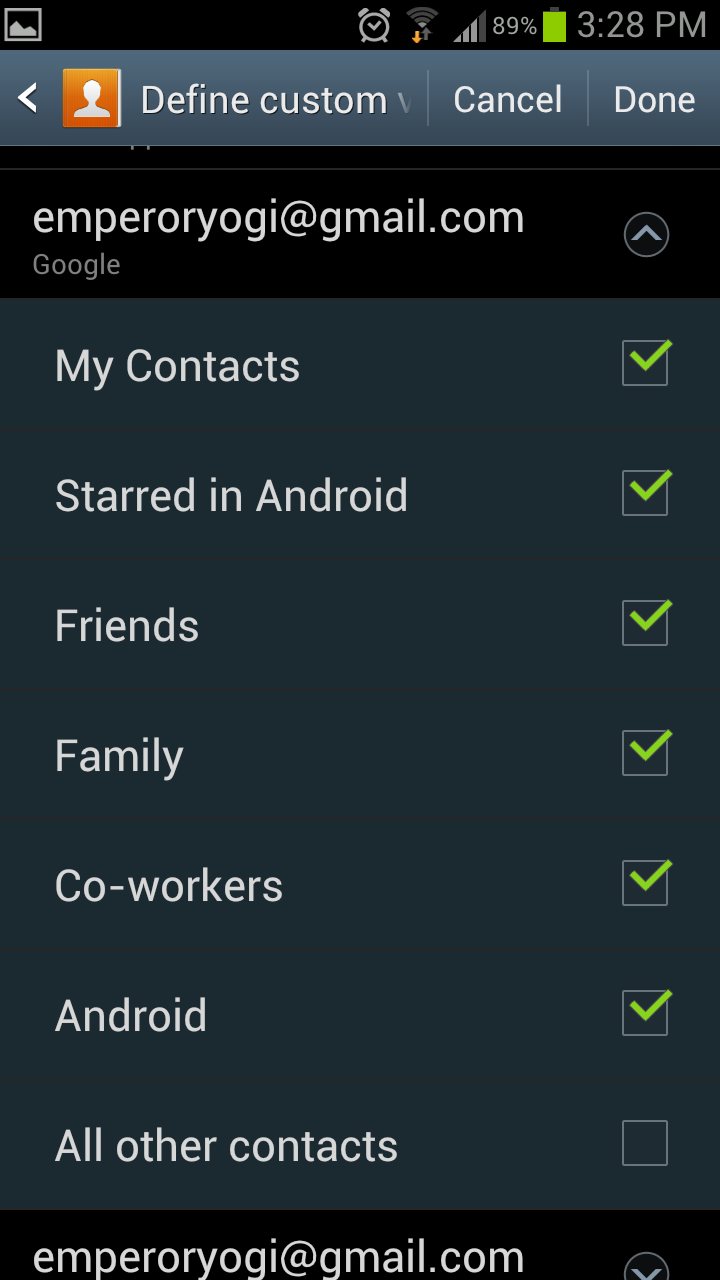 Contact Relationships